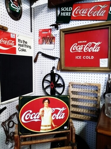 Ohio Antiques - Coke, Coca Cola, Signs, Cooler, Man Cave at Aunties Antique Mall
