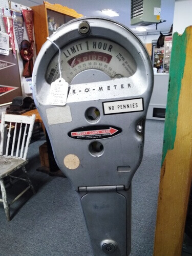 Ohio Antiques - Parking Meter, Man Cave at Aunties Antique Mall