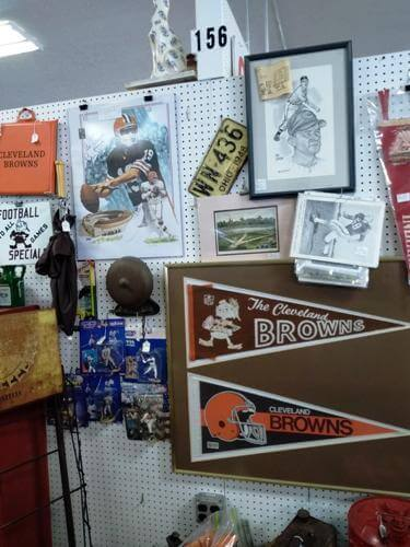 Ohio Antiques - Sports, Pennants, Cleveland Browns at Aunties Antique Mall