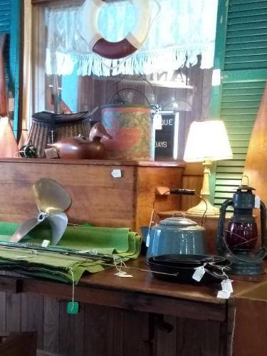 Ohio Antiques - Lamp, Propeller, Teapot, Lantern at Aunties Antique Mall