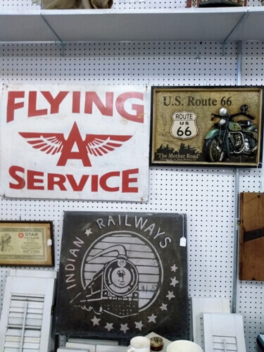 Ohio Antiques - Vintage Signs, Flying A, Route 66, Railroad, Man Cave at Aunties Antique Mall